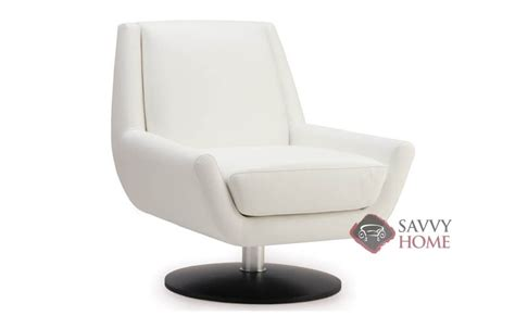 plato leather swivel chair by palliser is fully