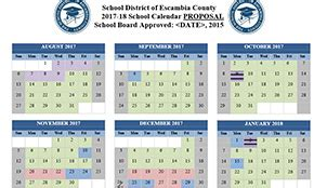 escambia district approves upcoming school year calendars