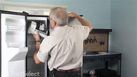refrigerator freezer repair replace ice maker kit ge part wrx youtube