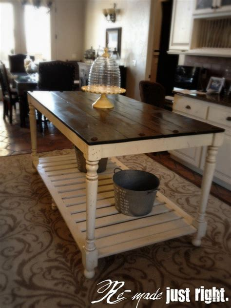 farm table kitchen island 30 rustic diy kitchen island ideas