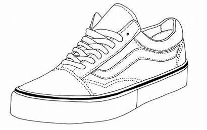 Vans Coloring Shoe Shoes Pages Drawing Skool