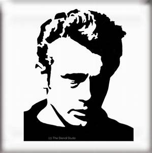 the stencil studio famous faces range james dean With what kind of paint to use on kitchen cabinets for plasma cut metal wall art