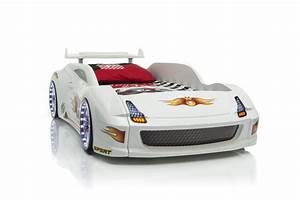 Autobett Mit Led : rennauto bett fivex weiss mit spoiler ebay ~ Sanjose-hotels-ca.com Haus und Dekorationen