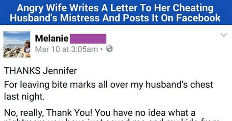 letter to my cheating husband angry writes epic letter to husband s 23227 | angry wife writes letter to ex husbands mistress featured