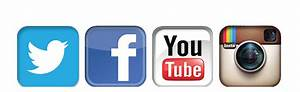 16 Social Media Facebook Twitter YouTube Icons PNG Images ...