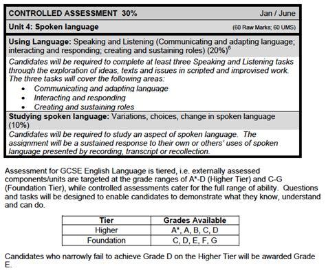 gcse english language  answers