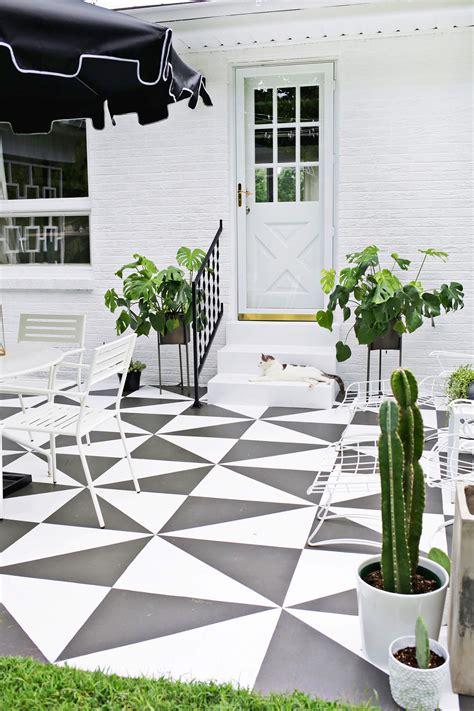 square concrete planter painted patio tile diy a beautiful mess