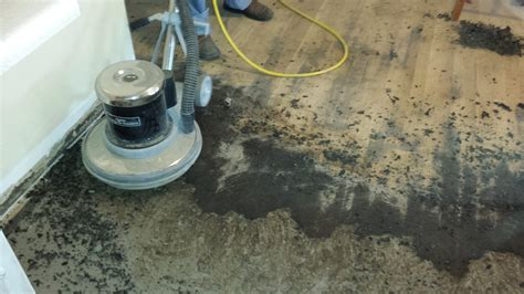 concrete look tile the easy way to remove black tar linoleum adhesive