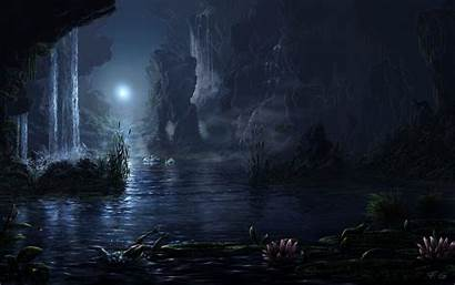 Moonlight Fantasy Magical Moon Paintings Landscapes Nature