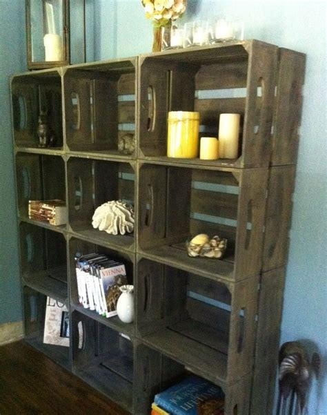 Apple Crate Bookcase by Vintage Wooden Apple Crate Bushell Box Shabby Chic