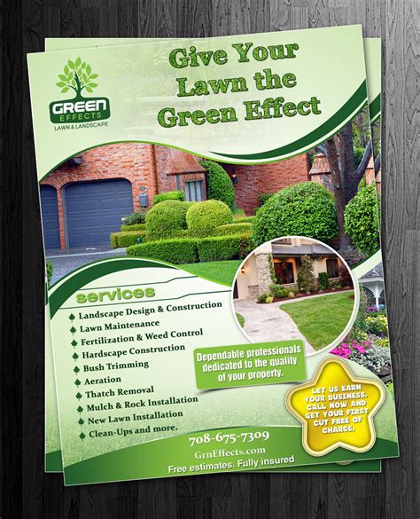 landscaping flyer playful landscaping flyer design for a company by esolz technologies design 1520701