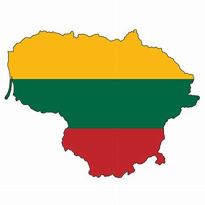 Lithuania Karte Flag Litauen Flagge Land Lietuva