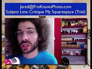 I want to critique your Squarespace Website - YouTube