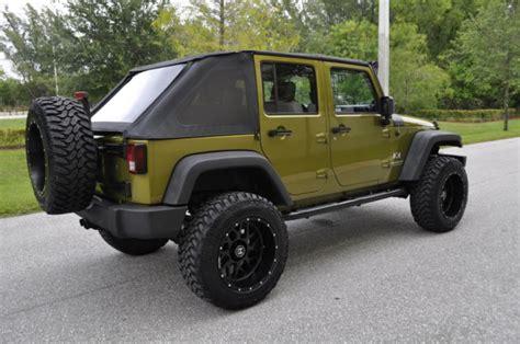 lifted jeep green jeep wrangler 4 door green autos post