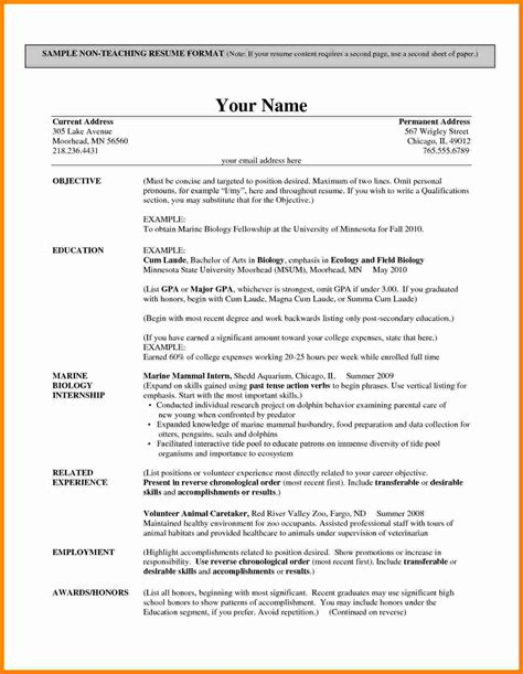 Best Cv Format For by 10 Cv Format Teachers Theorynpractice
