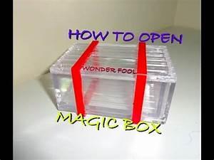 How To  Open The Plastic Magic Wonderfool Box