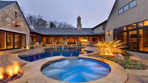 shaped house plans  courtyard pool gif maker daddygifcom  description youtube