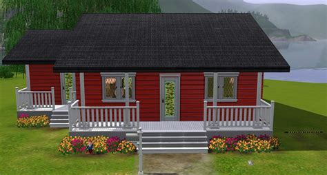 small family home mod the sims barn galow small family home