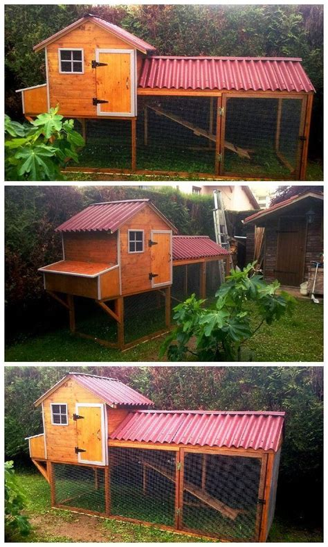 diy chicken coop  pallets jardin chicken coop