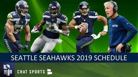 seahawks  schedule breaking  opponents game