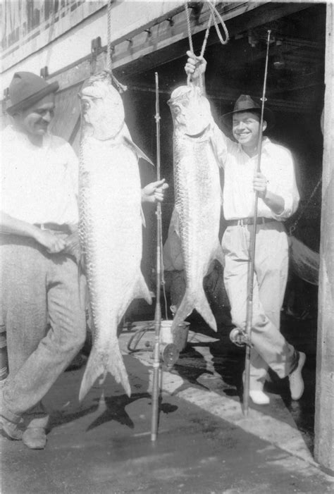 Boat R Elevations Idaho by Ernest Hemingway And Dos Passos Pose With Two Tarpon