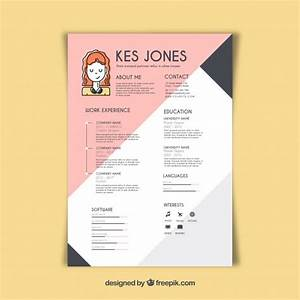 Graphic designer resume template vector free download for Graphic designer resume template free download