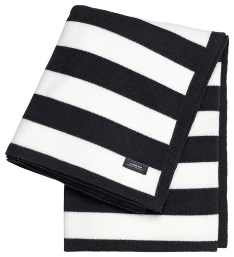 Living Room Chairs Walmart by Black Amp White Striped Cashwool Throw Contemporary