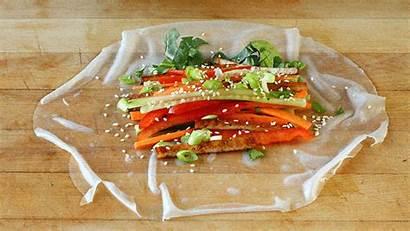 Rice Roll Rolls Paper Vegan Papers Sauce