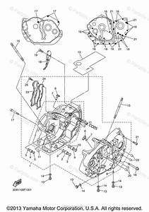 Yamaha Motorcycle 2007 Oem Parts Diagram For Crankcase