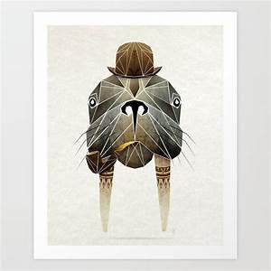 Walrus Art Print By Manou Society6