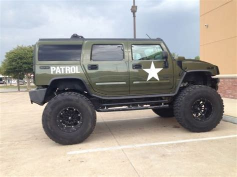 military hummer lifted sell used 2003 hummer h2 base sport utility army edition
