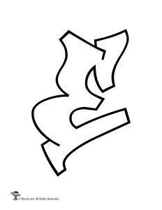 graffiti letter e printable graffiti letters alphabet woo jr 24684