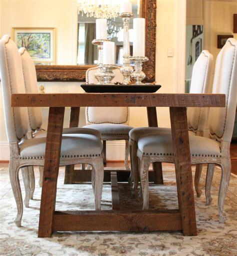 Custom The Pecky Dining Table Farmhouse Style Table Made
