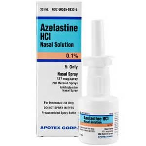 AZELASTINE HCL 0.1% Nasal Spray 137 MCG Brand Name ( ASTELIN ) Apotex ... Azelastine Nasal Spray