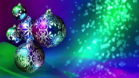 christmas background loop rotating christmas decorations