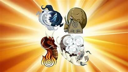 Airbender Avatar Last Elements Cartoon Nickelodeon Four