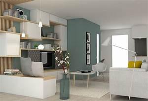 petit detour a l39isle d39abeau marion lanoe architecte d With good plan d appartement 3d 9 amenagement sejourcuisine bureau