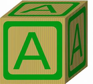 alphabet block a clip art at clkercom vector clip art With block letter art