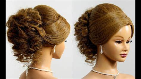 Prom Hairstyle For Long Medium Hair Tutorial. Wedding Updo