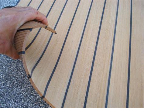 Pontoon Boat Teak Vinyl Flooring by Nuteak Has That Luxurious Look And Feel Of Authentic Teak