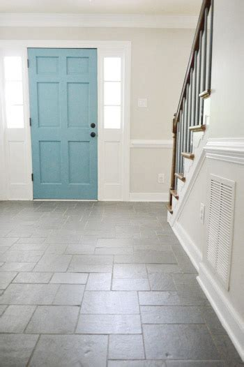foyer freshness  soft neutral paint color young house love
