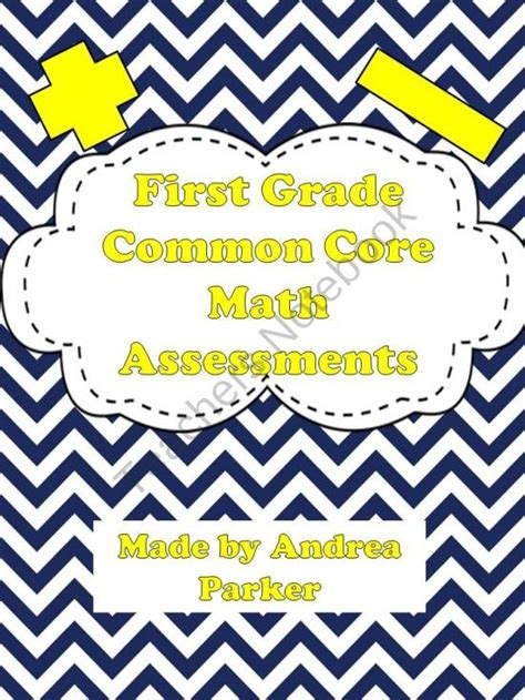 First Grade Math Assessments For Common Core Standards  Primary Possibilities First Grade