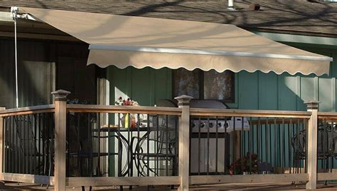 patio awning retractable motorized  manual tan ebay