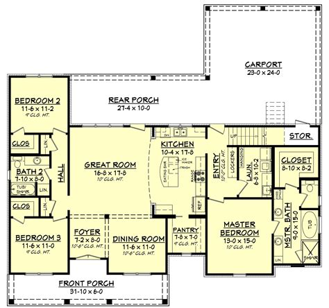 home floor plans 3 bedrm 1900 sq ft acadian house plan 142 1163