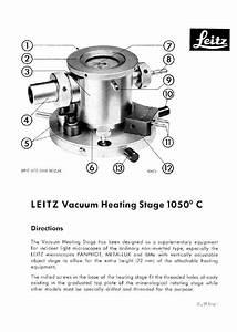 Leitz Microscope Vacuum Heating Stage 1050c Instructions
