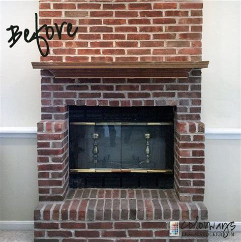 diy easy fireplace makeover idea fireplace update brick