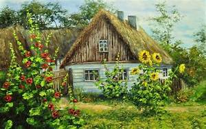 Cottage, Full, Screen, Desktop, Background, Picture, New ...