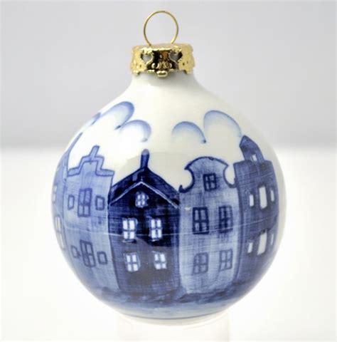 delf blue christmas ball delft blue pinterest