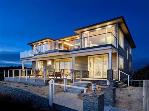 Modern Beach House Exterior Exterior House Columns Designs