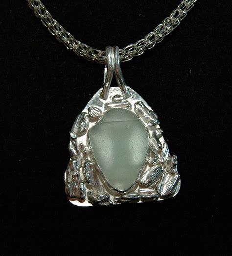 sea glass pendant lights sterling silver nugget and sea glass pendant don originals